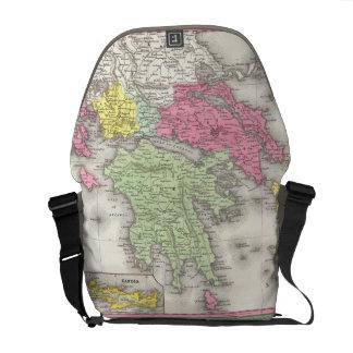 Vintage Map of Greece (1853) Messenger Bag