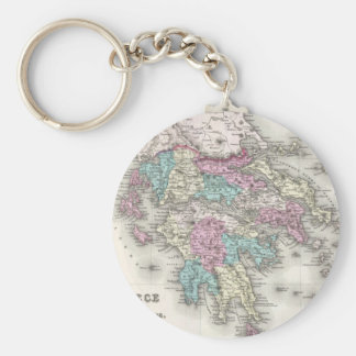 Vintage Map of Greece (1855) Keychains