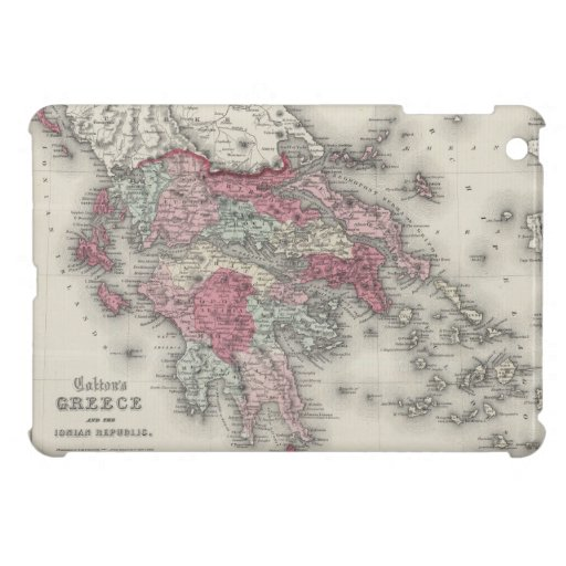 Vintage Map of Greece (1865) Cover For The iPad Mini