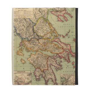 Vintage Map of Greece (1903) iPad Folio Cover