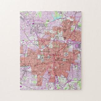 Vintage Map of Greensboro North Carolina (1951) Jigsaw Puzzle
