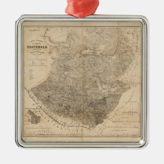 Vintage Map of Guatemala (1859) Metal Ornament
