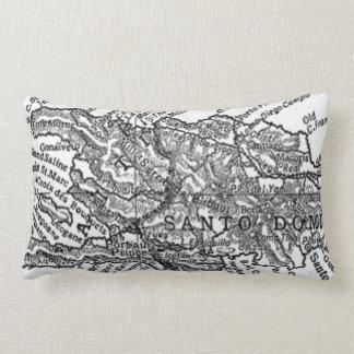 Vintage Map of Haiti (1911) Lumbar Pillow