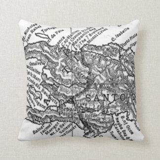 Vintage Map of Haiti (1911) Throw Pillow