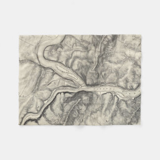 Vintage Map of Harpers Ferry (1863) Fleece Blanket