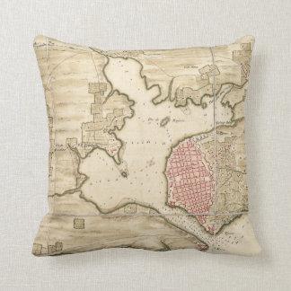 Vintage Map of Havana Cuba (1740) Cushion