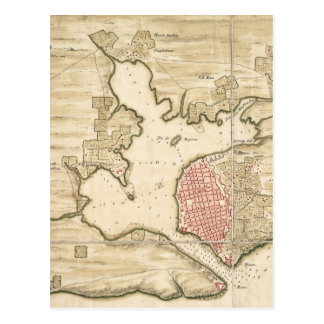 Vintage Map of Havana Cuba (1740) Postcard