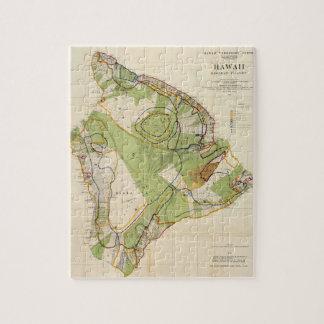 Vintage Map of Hawaii Island (1906) Jigsaw Puzzle