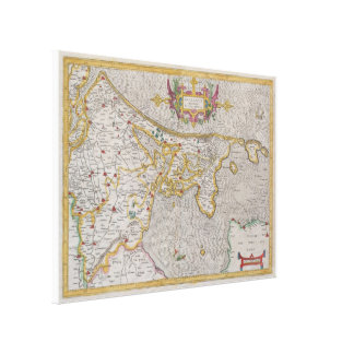 Vintage Map of Holland (1606) Canvas Print