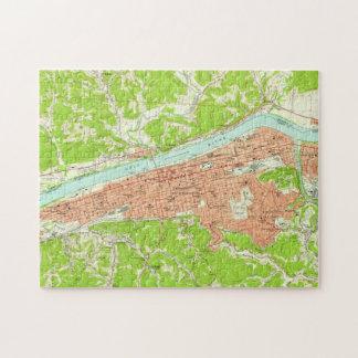 Vintage Map of Huntington West Virginia (1957) Jigsaw Puzzle