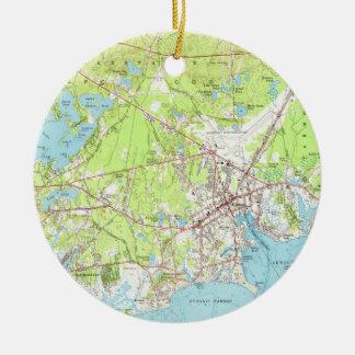 Vintage Map of Hyannis Massachusetts (1961) Ceramic Ornament