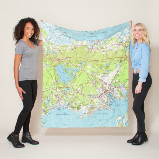 Vintage Map of Hyannis Massachusetts (1961) Fleece Blanket