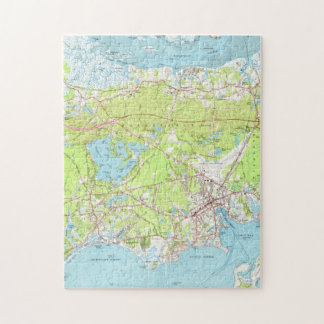 Vintage Map of Hyannis Massachusetts (1961) Jigsaw Puzzle