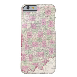 Vintage Map of Indiana (1864) Barely There iPhone 6 Case