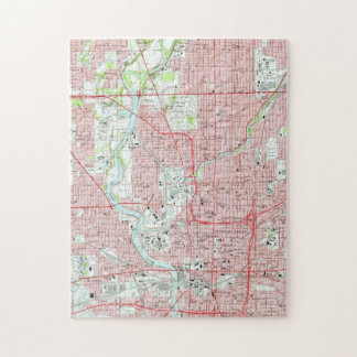 Vintage Map of Indianapolis Indiana (1967) Jigsaw Puzzle