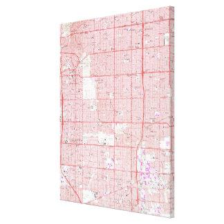 Vintage Map of Inglewood California (1964) Canvas Print
