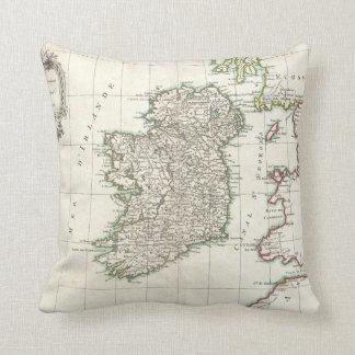 Vintage Map of Ireland (1771) Cushion