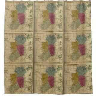 Vintage Map of Ireland (1808) Shower Curtain