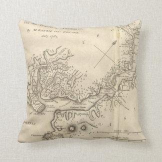 Vintage Map of Istanbul Turkey (1784) Cushion