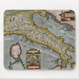 Vintage Map of Italy (1584) Mouse Pad