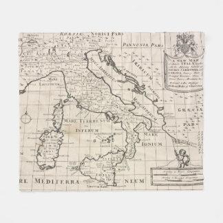 Vintage Map of Italy (1700) Fleece Blanket