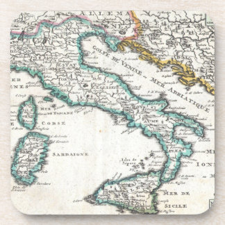 Vintage Map of Italy (1706) Coaster
