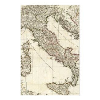 Vintage Map of Italy (1764) Stationery