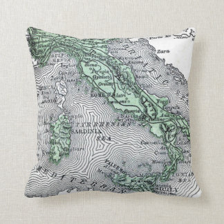 Vintage Map of Italy Cushion