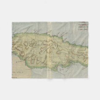 Vintage Map of Jamaica (1780) Fleece Blanket