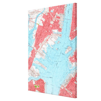 Vintage Map of Jersey City NJ (1955) 2 Canvas Print