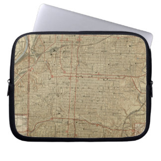 Vintage Map of Kansas City Missouri (1935) Laptop Sleeve