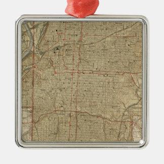 Vintage Map of Kansas City Missouri (1935) Metal Ornament