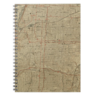 Vintage Map of Kansas City Missouri (1935) Notebook