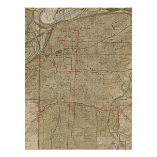 Vintage Map of Kansas City Missouri (1935) Poster