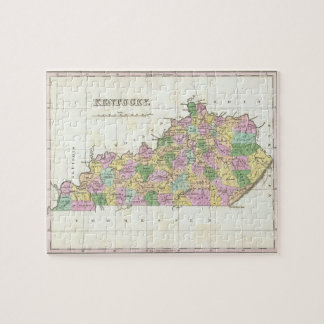Vintage Map of Kentucky (1827) Jigsaw Puzzle