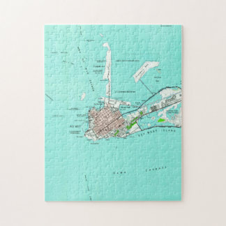 Vintage Map of Key West Florida (1962) Jigsaw Puzzle