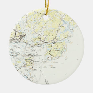 Vintage Map of Kittery Maine (1944) Ceramic Ornament