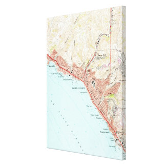Vintage Map of Laguna Beach California (1965) Canvas Print