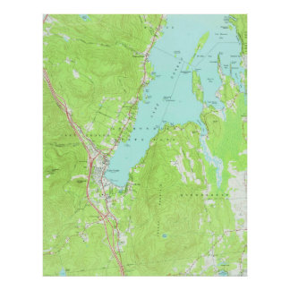 Vintage Map of Lake George New York (1966) 2 Poster