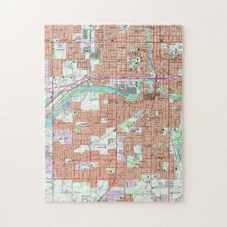 Vintage Map of Lansing Michigan (1965) Jigsaw Puzzle