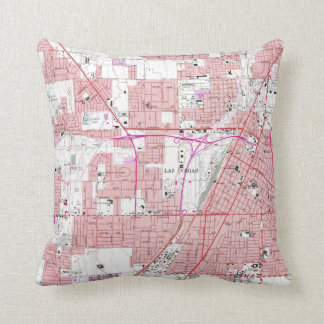 Vintage Map of Las Vegas Nevada (1967) 3 Cushion