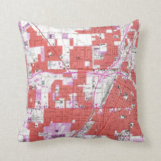 Vintage Map of Las Vegas Nevada (1967) Cushion