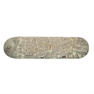 Vintage Map of Liverpool England (1836) Skate Board Deck