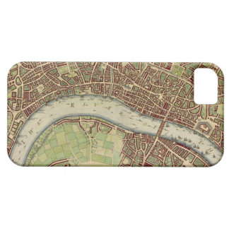 Vintage Map of London (17th Century) iPhone 5 Cover