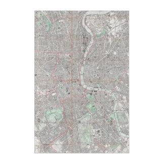 Vintage map of London city Acrylic Print