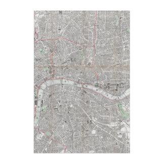 Vintage map of London city Acrylic Wall Art