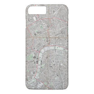 Vintage map of London city iPhone 8 Plus/7 Plus Case