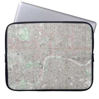 Vintage map of London city Laptop Sleeve