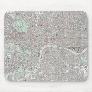 Vintage map of London city Mouse Pad