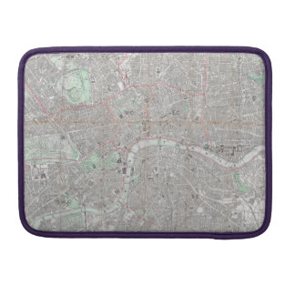 Vintage map of London city Sleeve For MacBook Pro